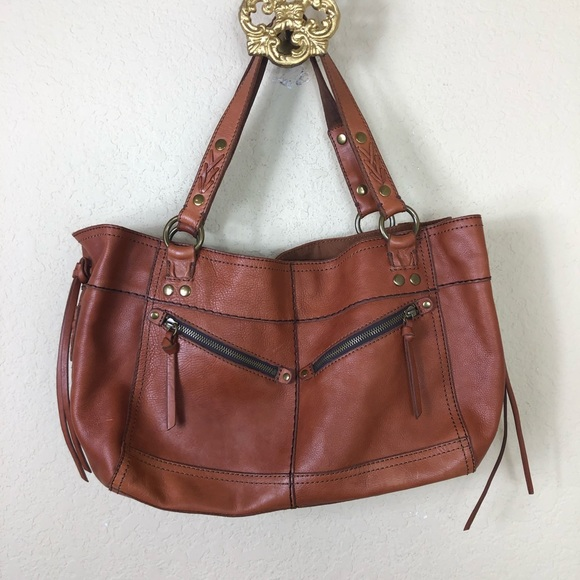 Lucky Brand Handbags - Lucky Brand large detailed leather shoulder bag